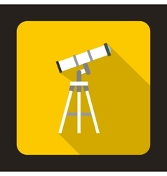 Telescope icon in flat style vector