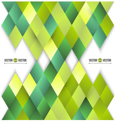 abstract background of yellow and green diamonds vector image vector image