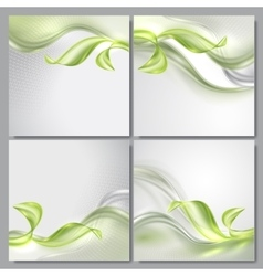 Abstract wave spring background vector image vector image