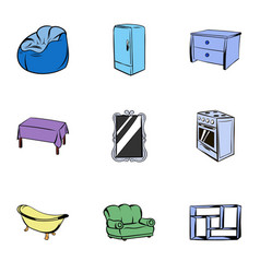 Appointment icons set cartoon style vector