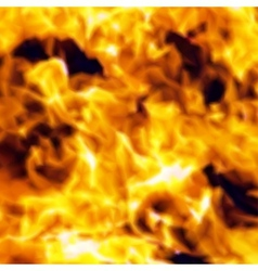 Burn flame fire seamless background vector image