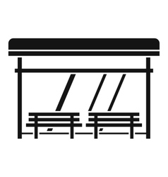 Bus stop icon simple style vector