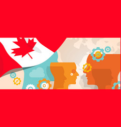 Canada concept of thinking growing innovation vector