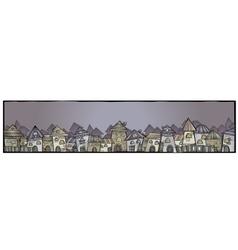 Cartoon construction town banner vector