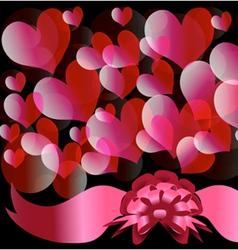 Circles and hearts 3 vector