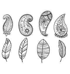 design of vintage mandala doodle elements vector image vector image