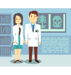 Doctor and hospital nurse healthcare vector