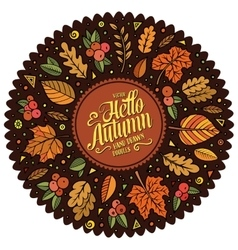 doodle cartoon set of Autumn objects vector image vector image