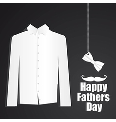 Fathers day card with formal attire with bow tie vector