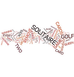 golf solitaire strategy guide text background vector image vector image