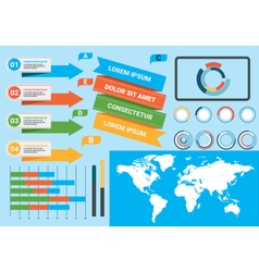 Infographics elements 2 vector image vector image