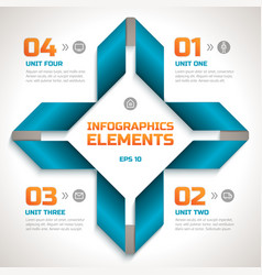 Infographics geometric template vector