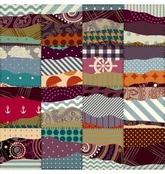 Patchwork with wavy effect vector image vector image