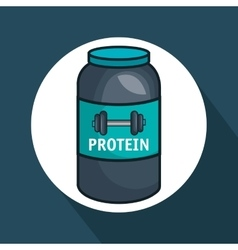 Protein gym bottle isolated icon vector