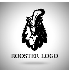 Rooster head logo template vector