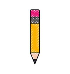 school wooden pencil utensil writing icon vector image