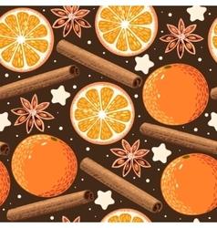 Seamless orange and cinnamon vector