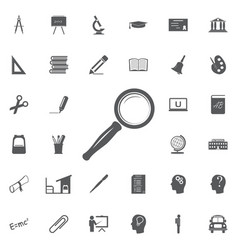 search icon set vector image