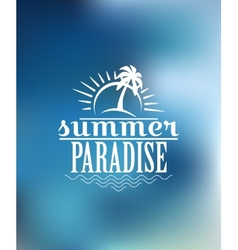 Summer Paradise poster design vector image vector image
