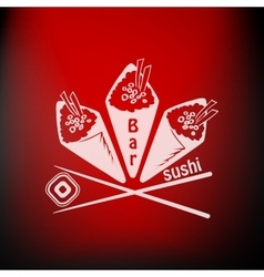sushi label vector image