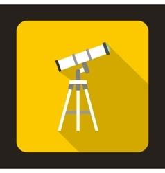 Telescope icon in flat style vector
