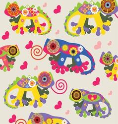 tropical reptiles cartoon background vector image vector image