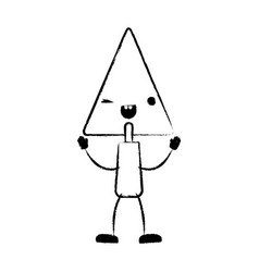 trowel flat icon monochrome cartoon blurred vector image