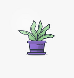 Watering can and flower pot vector