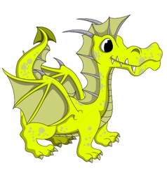 Yellow dragon cartoon vector