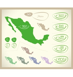 Bio Map MX Mexico vector image