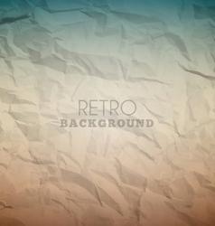 Retro crumpled background vector image
