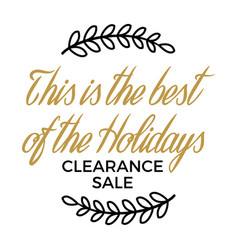 Best of holidays clearance sale winter discount vector
