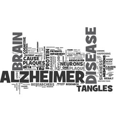 What happens in the brain of an alzheimer s vector
