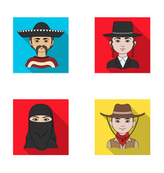 A mexican a jew a woman from the middle east an vector