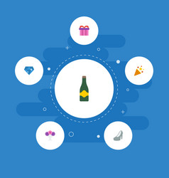 Flat icons present sparkler brilliant and other vector