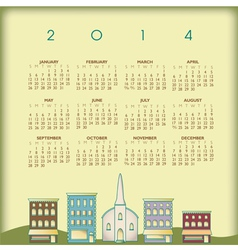 2014 small town calendar vector