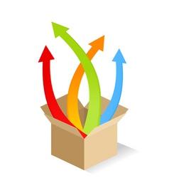 box of arrows vector image