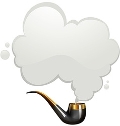 Smoking pipe with smoke vector