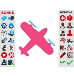 Screw Aeroplane Icon vector image