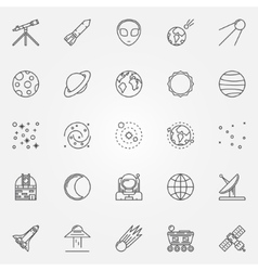 Astronomy icons set vector