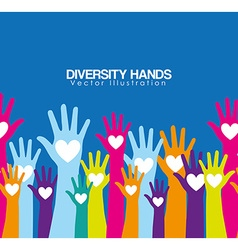 Diversity hands design vector