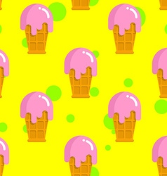 Vanilla ice cream seamless pattern cold milk pink vector
