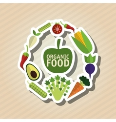 Organic food design healthy food menu concept vector