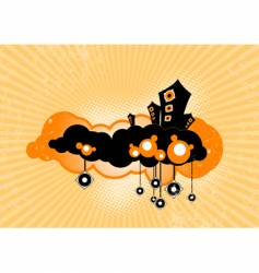 Speakers floating on clouds vector