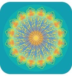 Bright ethnic mandala vector