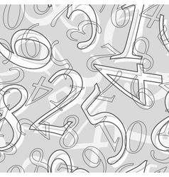 Seamless mathematical pattern vector image