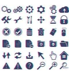 basic web icon set vector image