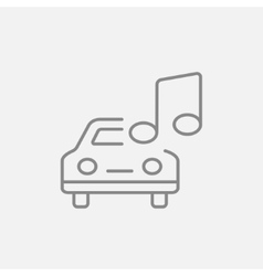 Car with music note line icon vector image