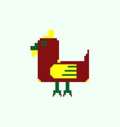 Chicken pixel art animal farm vector