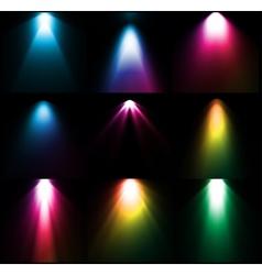 Colorful light sources set vector